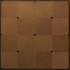 244 PVC  2x2 Faux Tin Ceiling Tile - Antique Gold