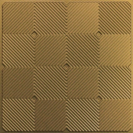 244 PVC  2x2 Faux Tin Ceiling Tile - Brass