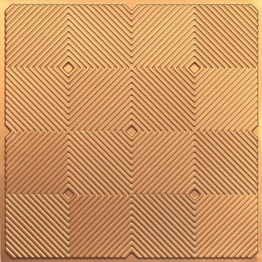 244 PVC  2x2 Faux Tin Ceiling Tile - Gold