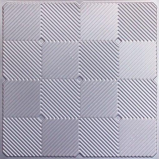 244 PVC  2x2 Faux Tin Ceiling Tile - Silver