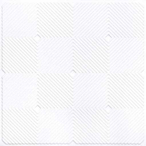 244 PVC  2x2 Faux Tin Ceiling Tile - White Matte
