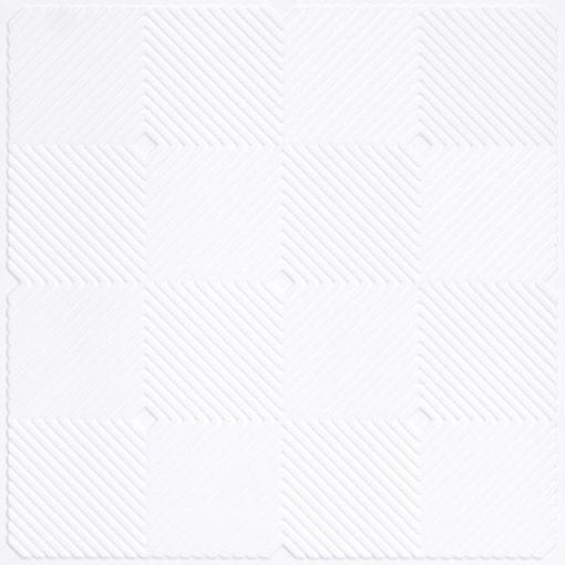 244 PVC  2x2 Faux Tin Ceiling Tile - White Pearl