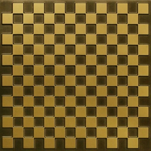 246 Faux Tin Ceiling Tile - Antique Brass