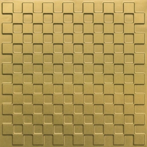 246 Faux Tin Ceiling Tile - Brass