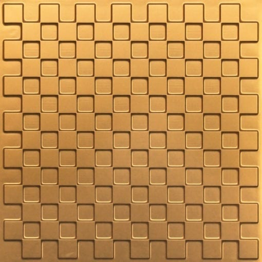 246 Faux Tin Ceiling Tile - Gold