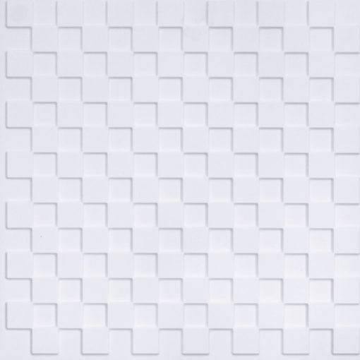 246 Faux Tin Ceiling Tile - White Matte