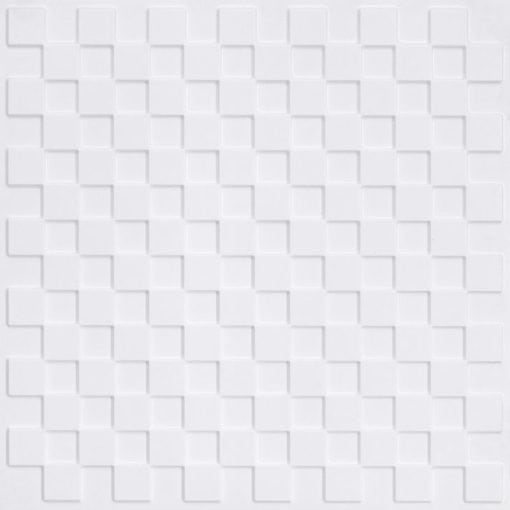 246 Faux Tin Ceiling Tile - White Pearl