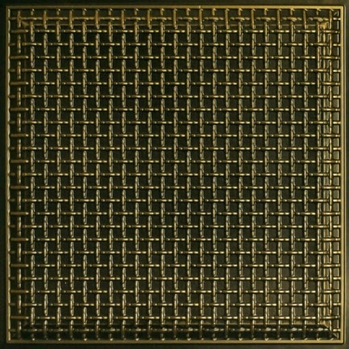 248 Faux Tin Ceiling Tile - Antique Brass