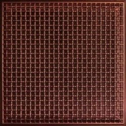 248 Faux Tin Ceiling Tile - Antique Copper