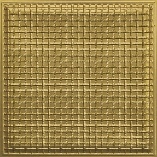 248 Faux Tin Ceiling Tile - Brass