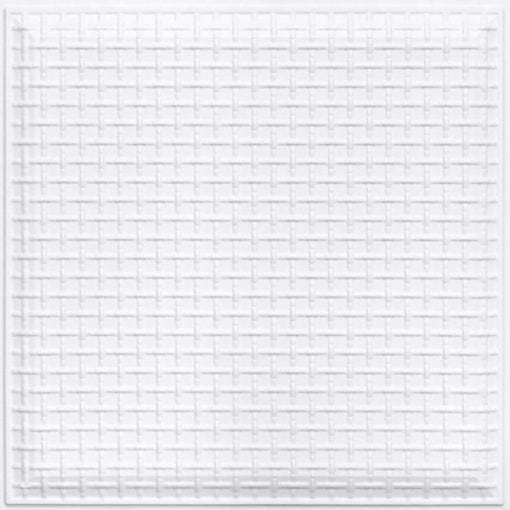 248 Faux Tin Ceiling Tile - White Pearl
