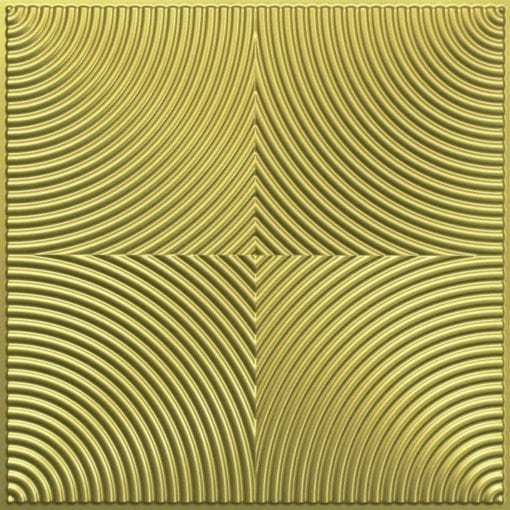 250 Faux Tin Ceiling Tile - Brass