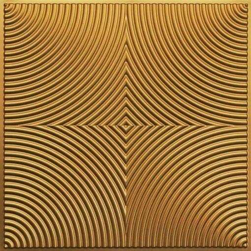 250 Faux Tin Ceiling Tile - Gold