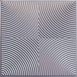 250 Faux Tin Ceiling Tile - Silver