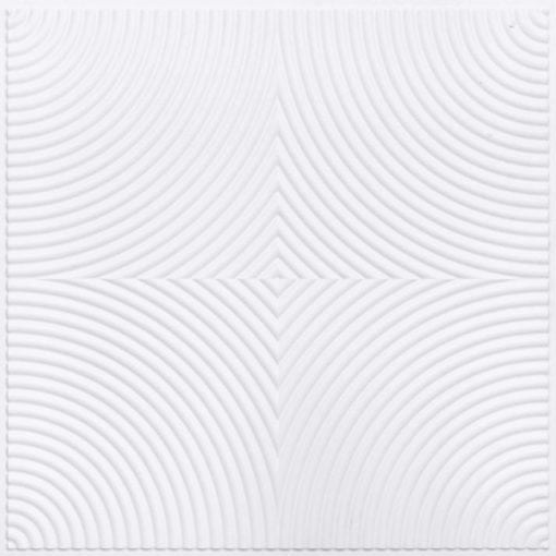 250 Faux Tin Ceiling Tile - White Matte
