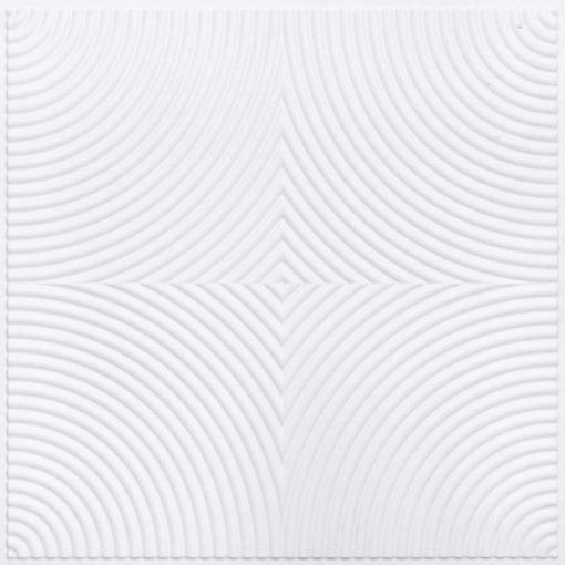 250 Faux Tin Ceiling Tile - White Matte
