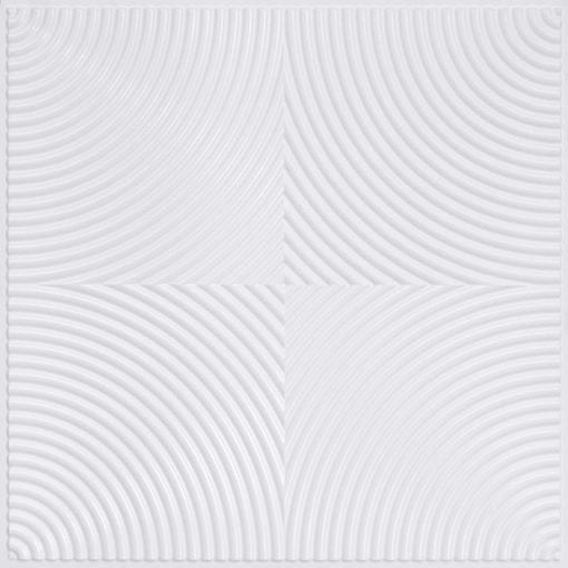 250 Faux Tin Ceiling Tile - White Pearl