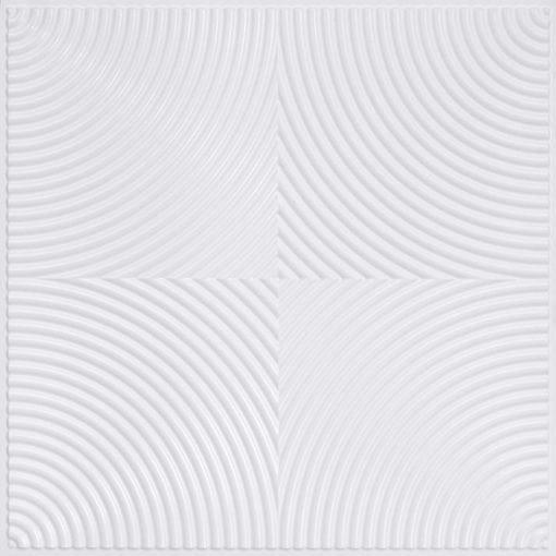 250 Faux Tin Ceiling Tile - White Pearl