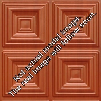 8266 Faux Tin Ceiling Tile - Dark Cherry