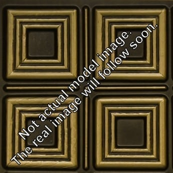 8267 Faux Tin Ceiling Tile - Antique Brass