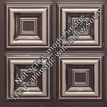 8267 Faux Tin Ceiling Tile - Antique Silver