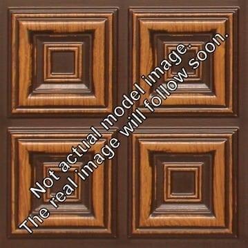 8267 Faux Tin Ceiling Tile - Antique Teakwood