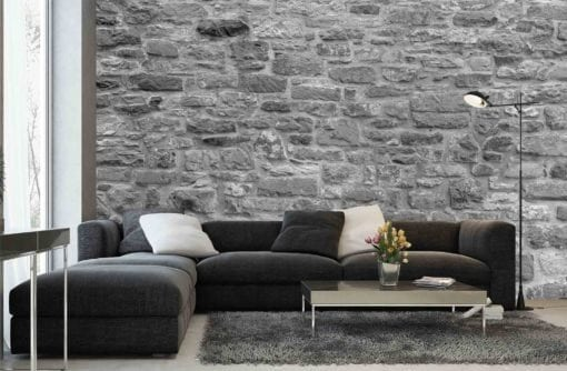 MU1500 - Stone Wall - black and white