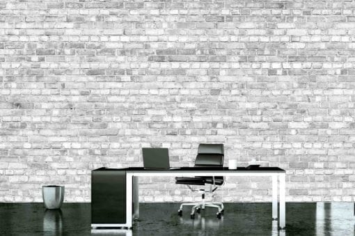 MU1449 -  Old Brick Wall - Pale black and white