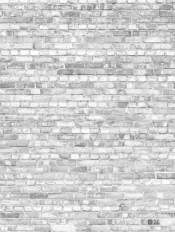 Mu1449 Old Brick Wall Pale Black And White