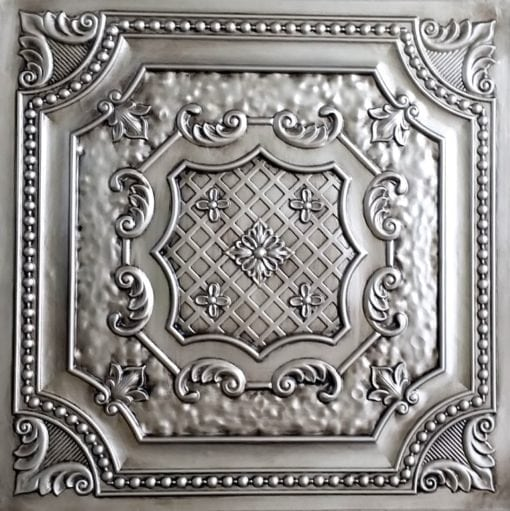TD04 Aged Silver Faux Tin Ceiling Tile