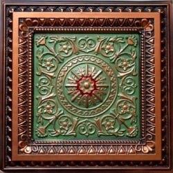 223 Antique Copper Faux Tin Ceiling Tile