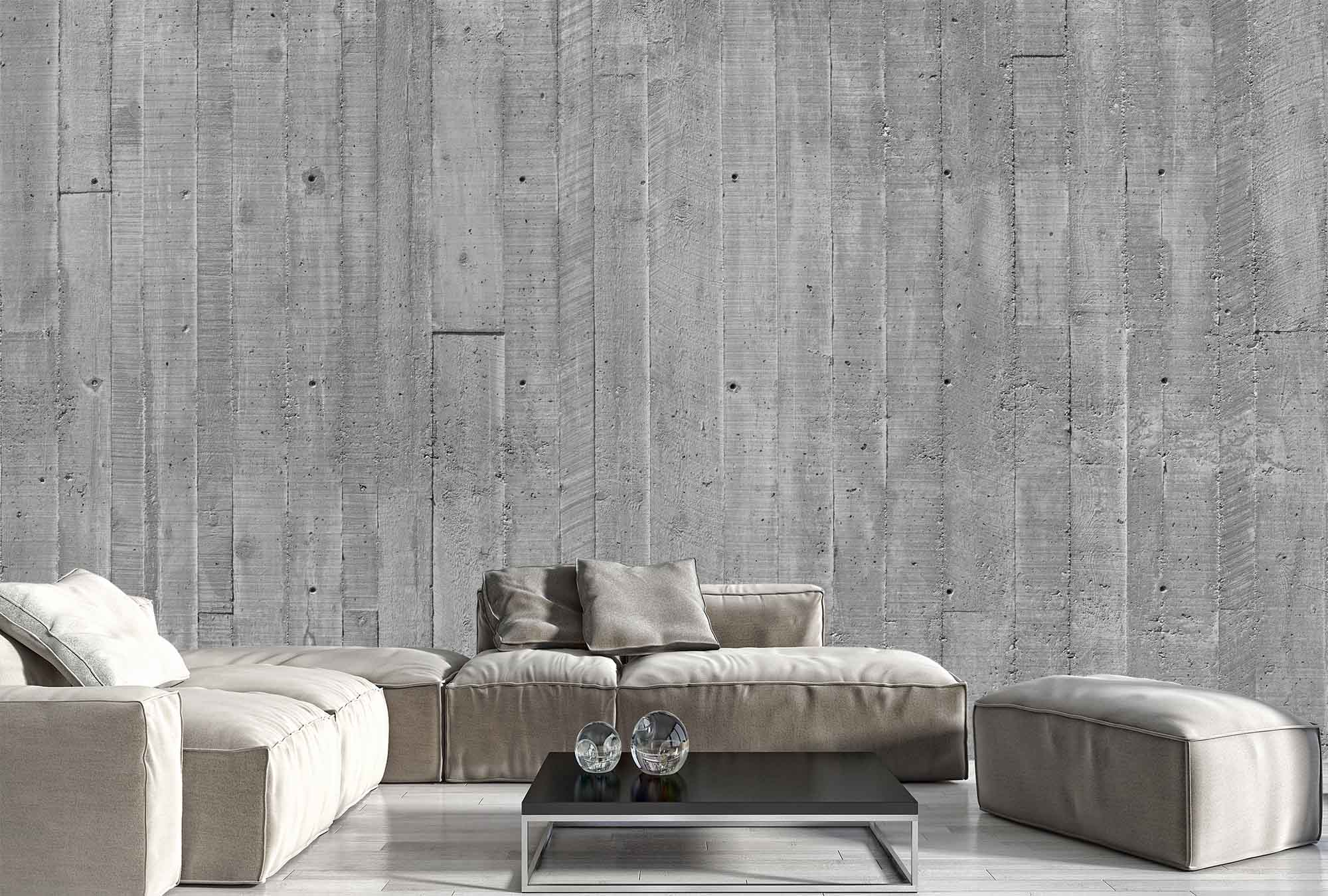 Concrete Effect Feature Wall Using Cement Fibre Board With Plaster And Paint Finish Techniques Cool Idea Awesome Bold Interior Interior Design Home Decor
