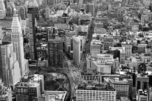 MU1414 - Bird's Eye View of Manhattan, New York