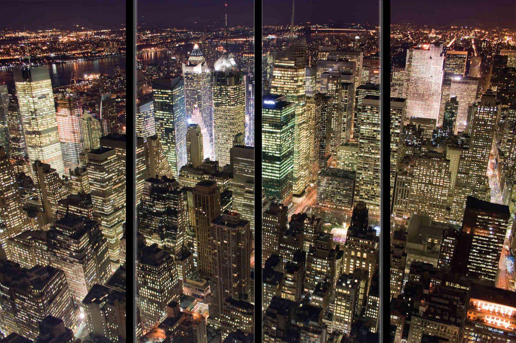 MU1383 - Manhattan at Night with Window Frames