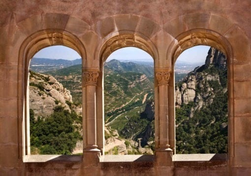 MU1277 - View from the Monastery of Montserrat, Spain