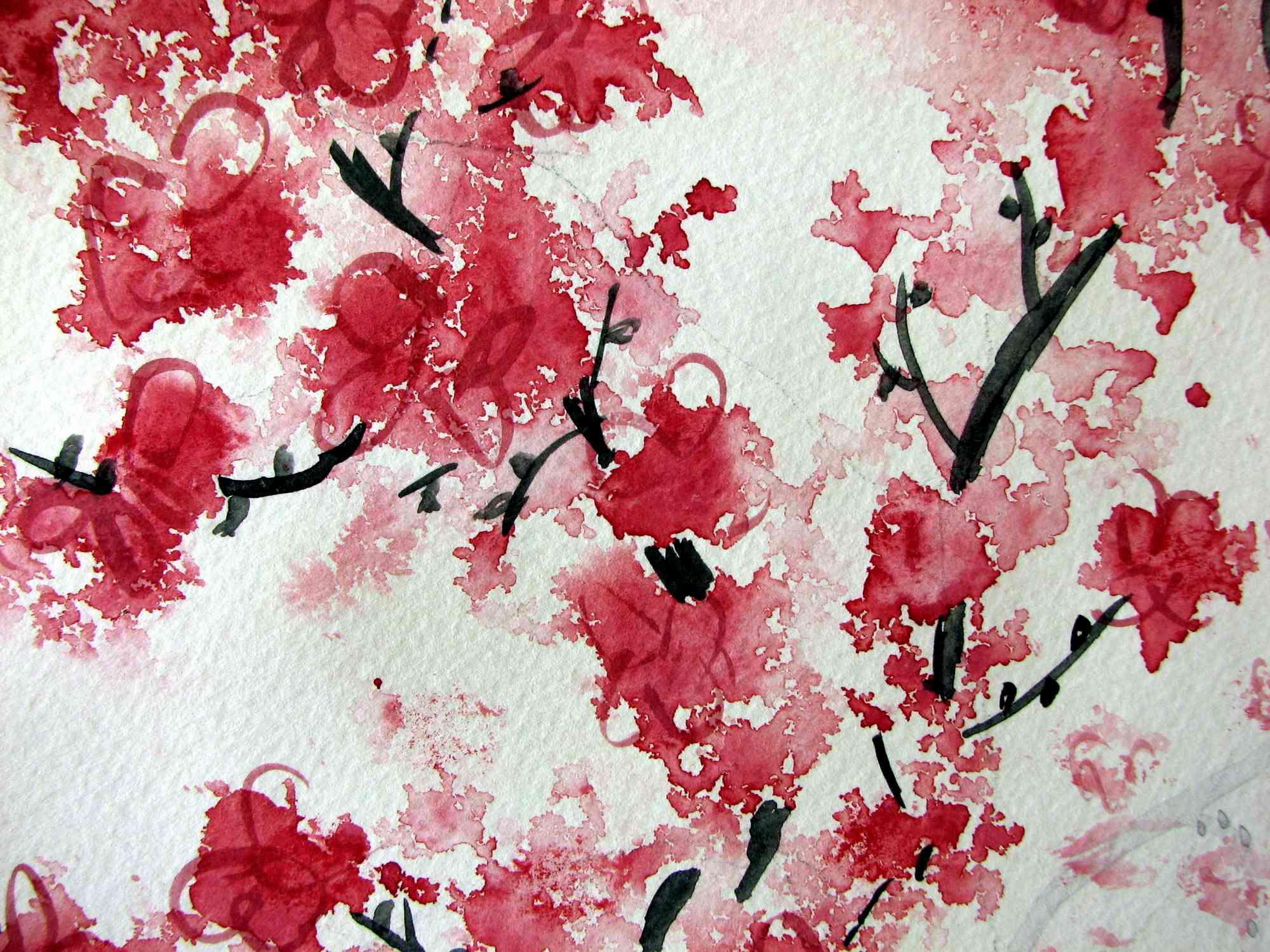 MU1236 - Cherry Blossom Aquarelle