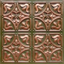 Lot of 16 tiles - 148 Faux Tin Patina Copper