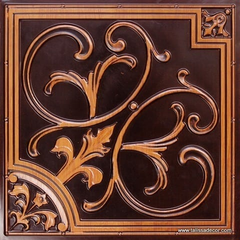 204 Faux Tin - Antique Teakwood