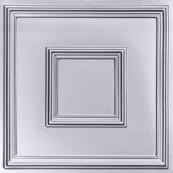 208 Silver Faux Tin Ceiling Tile
