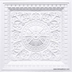 215 White Pearl Faux Tin Coffered Ceiling Tile