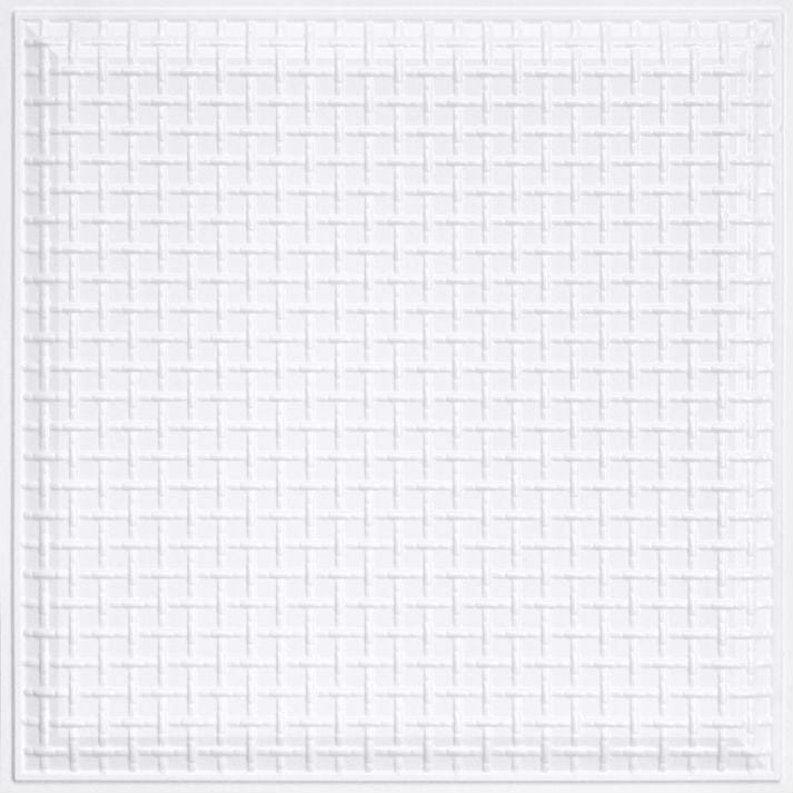 248 Faux Tin Ceiling Tile - White Matte