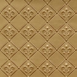 WC80  Faux Tin Backsplash Roll 25' x 2' Brass
