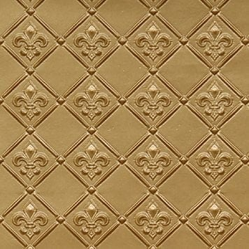 WC80  Faux Tin Backsplash Roll - Brass