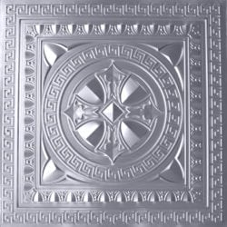 TD01 Faux Tin Ceiling Tile - Brushed Nickel