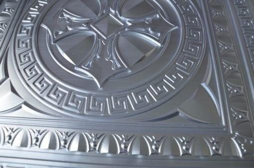 TD01 Faux Tin Ceiling Tile - Brushed Nickel