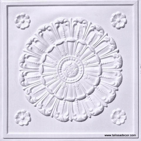 151 White Pearl Faux Tin Ceiling Tile