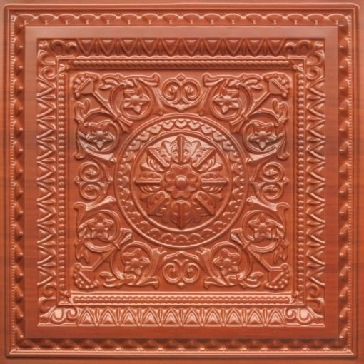 223 Faux Tin Ceiling Tile - Dark Cherry
