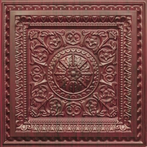 223 Faux Tin Ceiling Tile - Woodland Brown