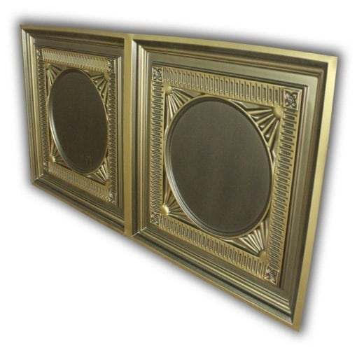 8266 Faux Tin Ceiling Tile - Antique Brass