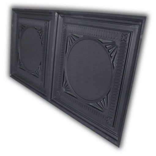 8266 Faux Tin Ceiling Tile - Black Matte
